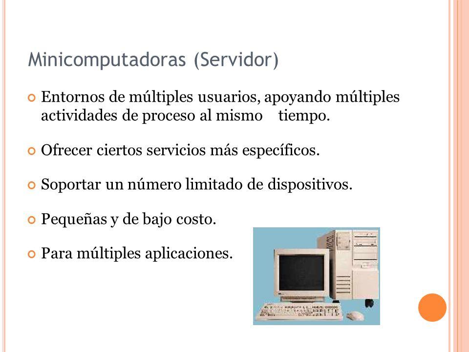 Minicomputadoras (Servidor)