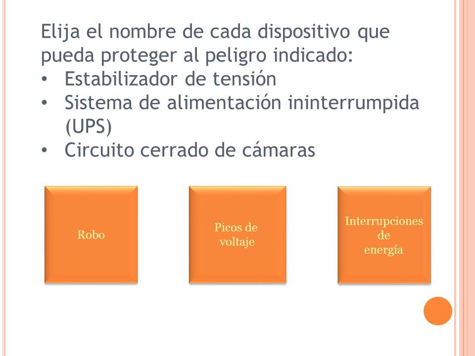 Estabilizador de tensión Sistema de alimentación ininterrumpida (UPS)