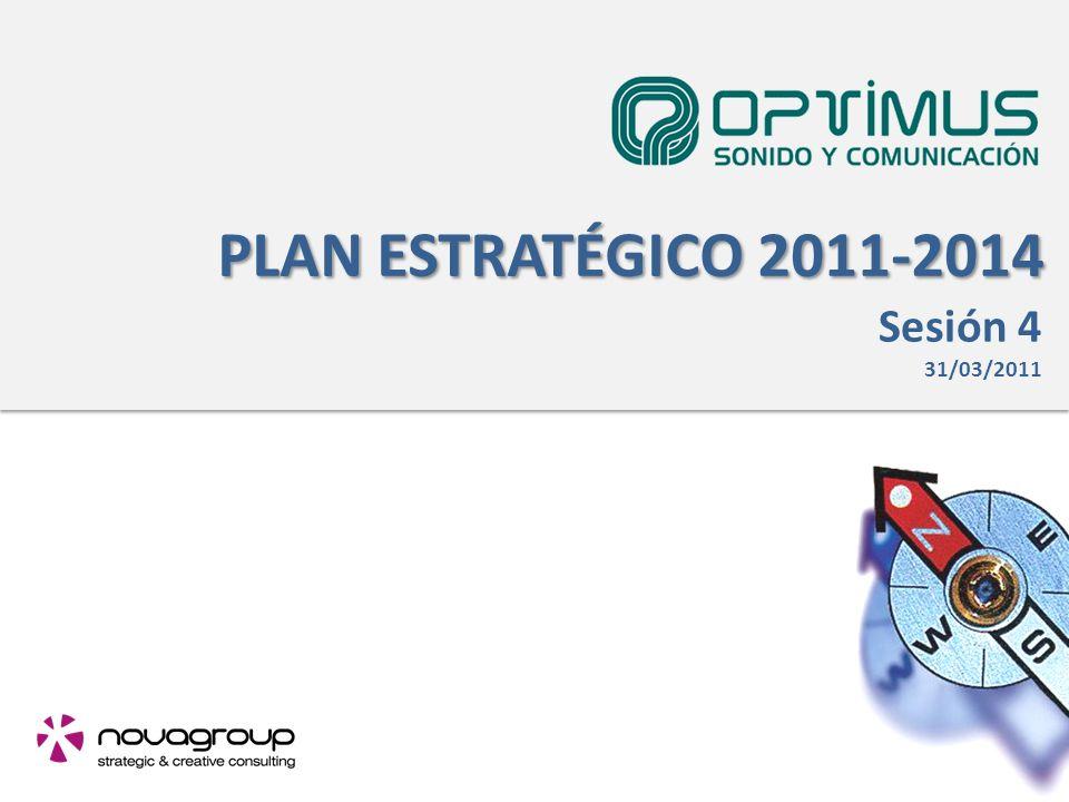PLAN ESTRATÉGICO 2011-2014 Sesión 4 31/03/2011