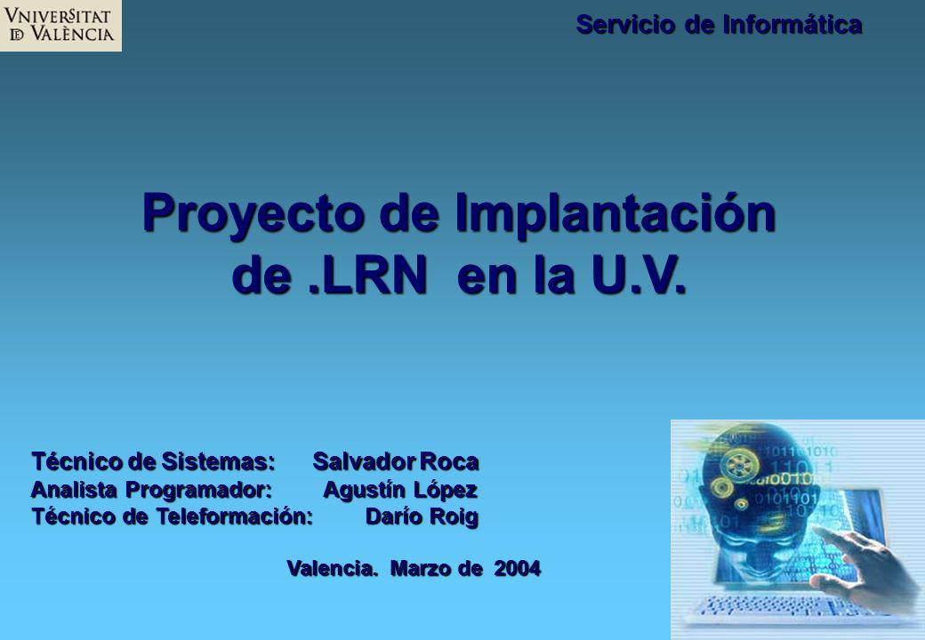 Proyecto de Implantación de .LRN en la U.V.