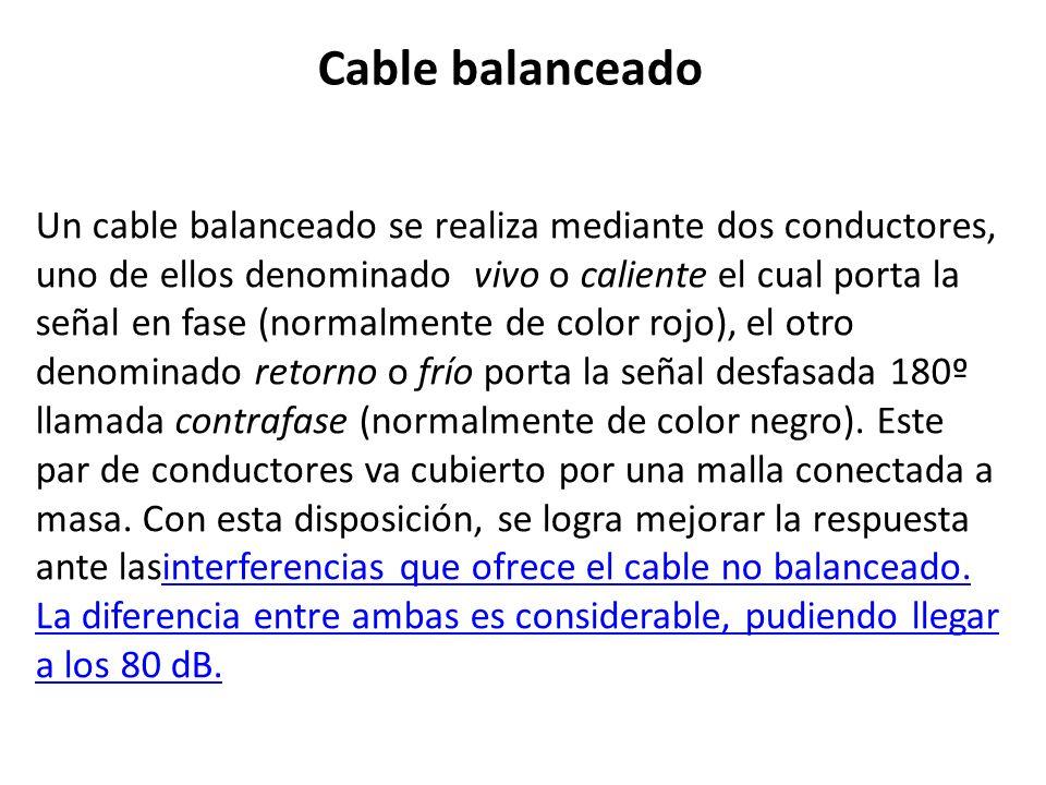 Cable balanceado