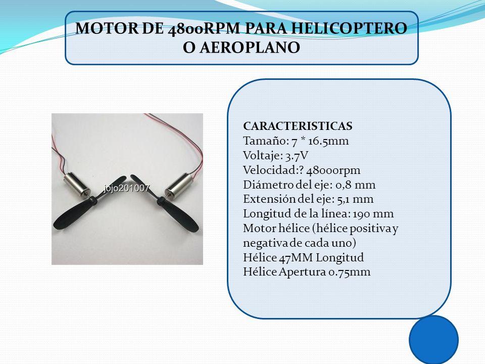 MOTOR DE 4800RPM PARA HELICOPTERO O AEROPLANO