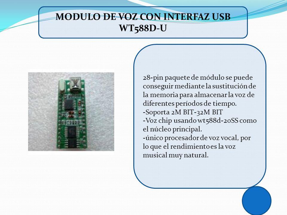 MODULO DE VOZ CON INTERFAZ USB WT588D-U