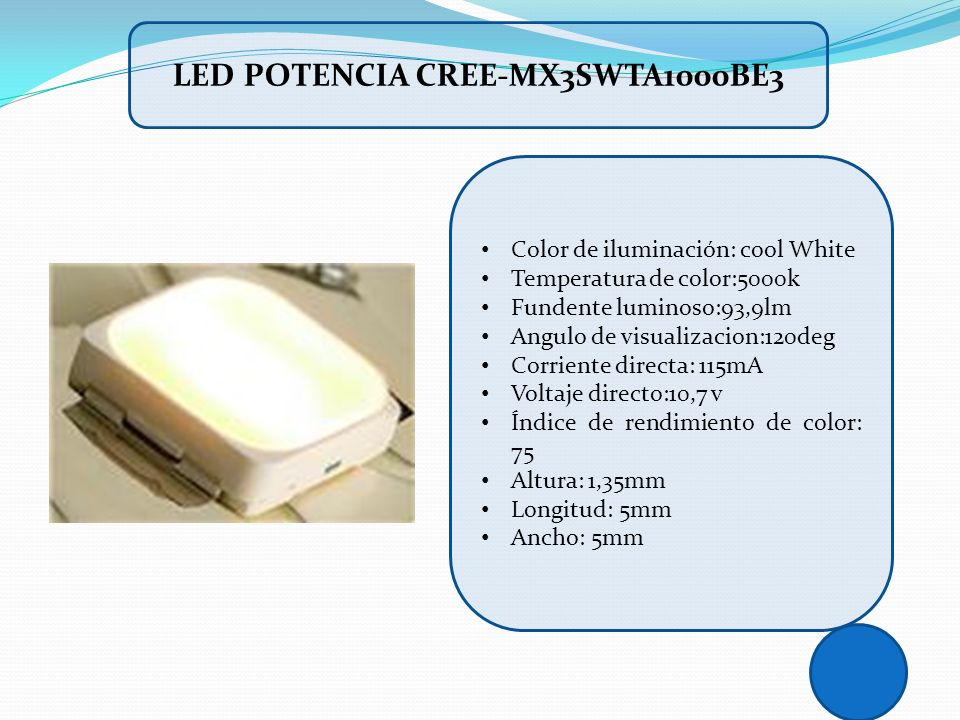 LED POTENCIA CREE-MX3SWTA1000BE3