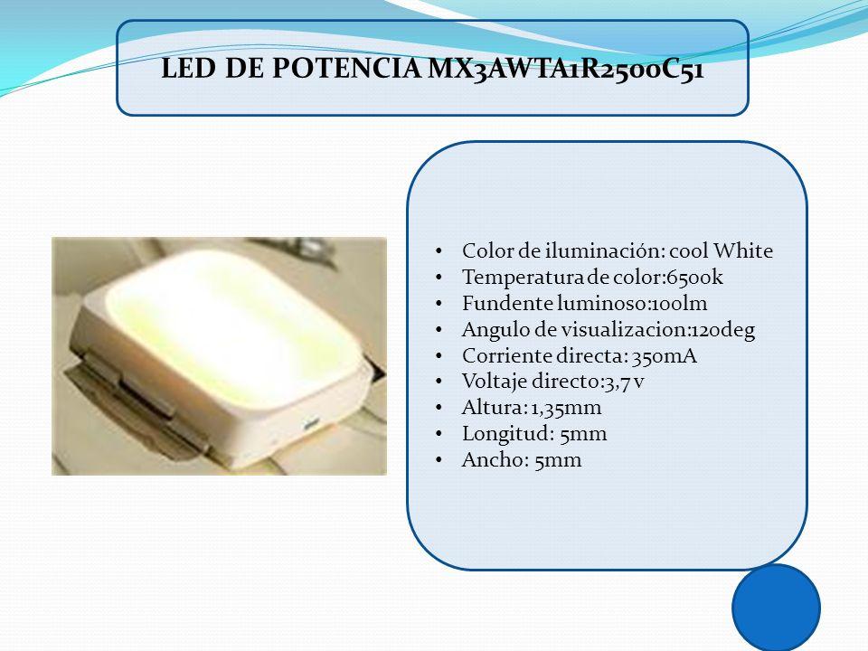 LED DE POTENCIA MX3AWTA1R2500C51
