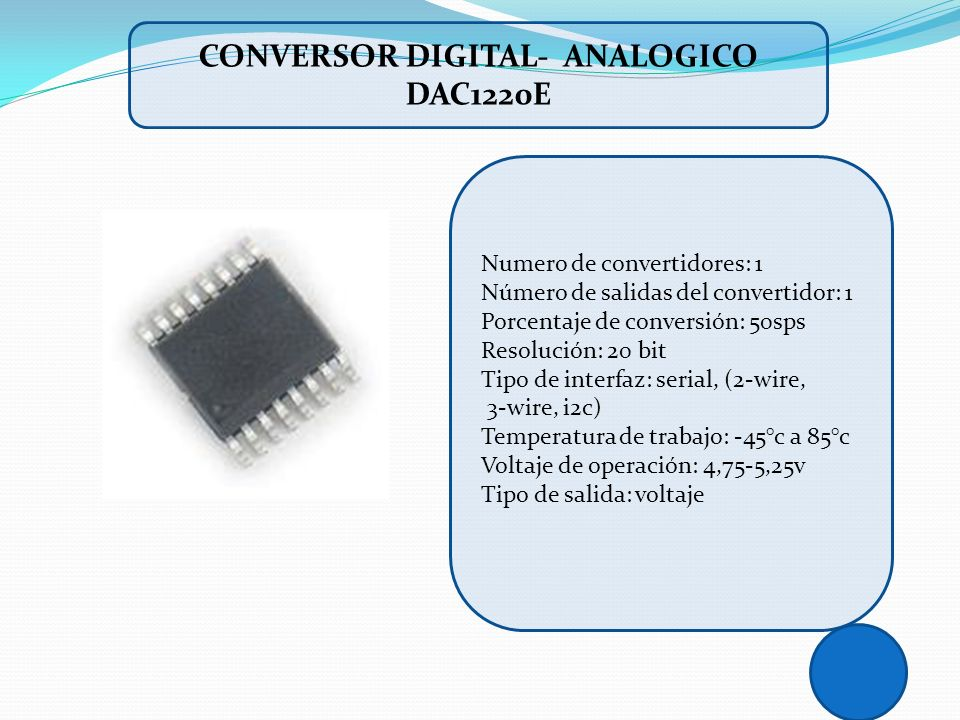 CONVERSOR DIGITAL- ANALOGICO DAC1220E