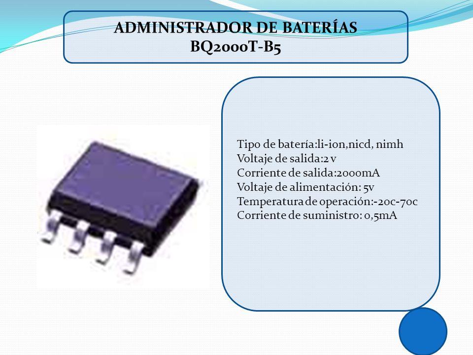 Administrador de baterías