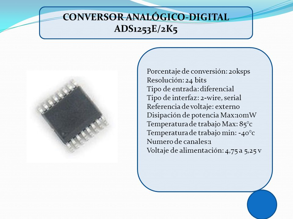 Conversor analógico-digital ADS1253E/2K5