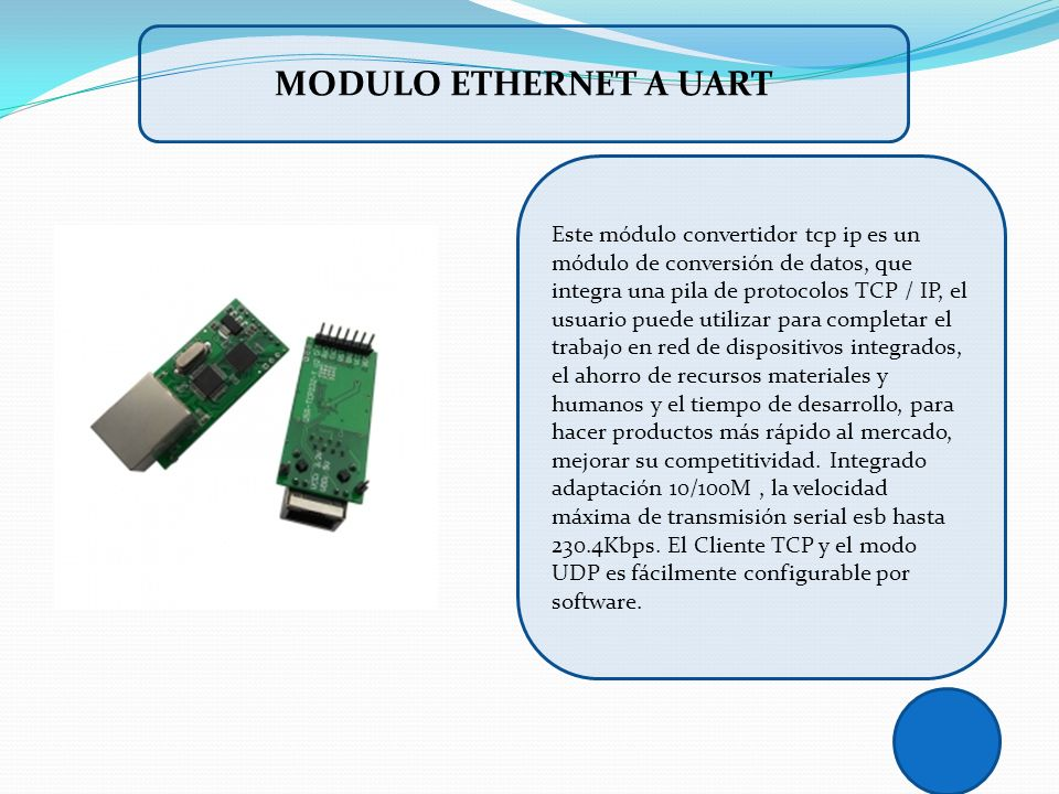 MODULO ETHERNET A UART