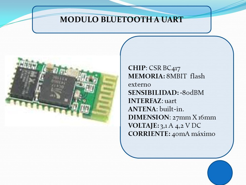 MODULO BLUETOOTH A UART