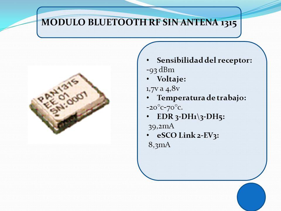 MODULO BLUETOOTH RF SIN ANTENA 1315