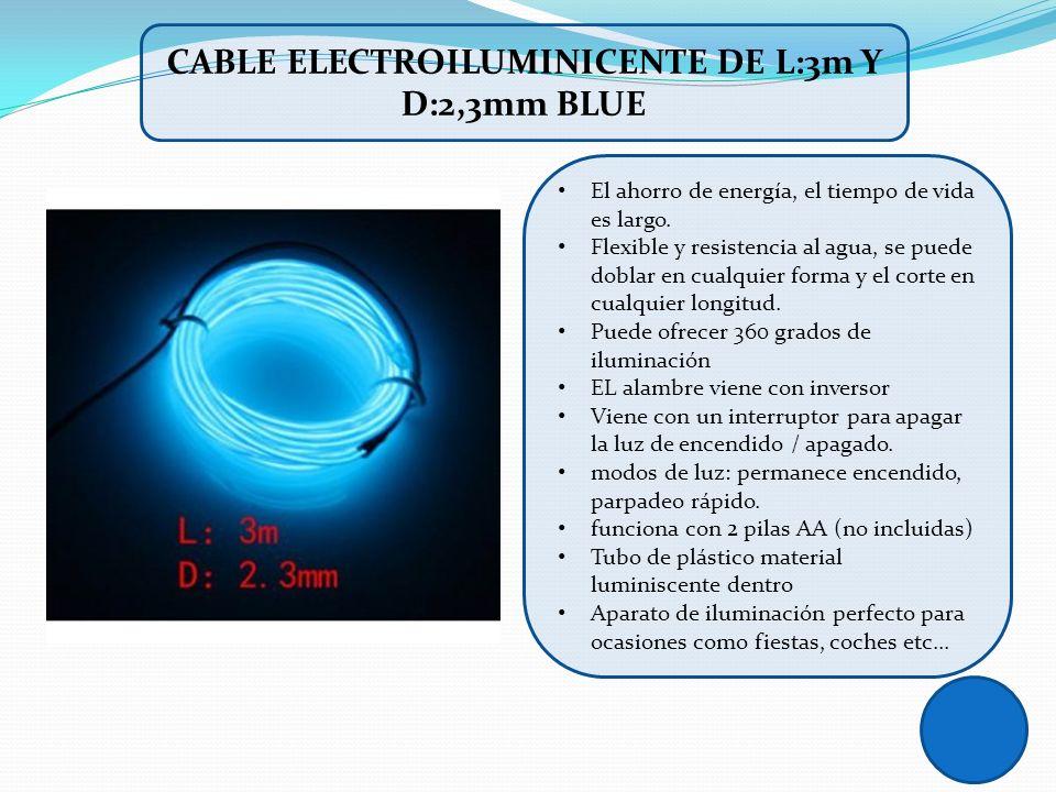 CABLE ELECTROILUMINICENTE DE L:3m Y D:2,3mm BLUE
