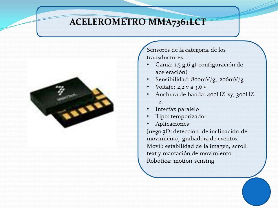 Acelerometro mma7361lct Sensores de la categoría de los transductores