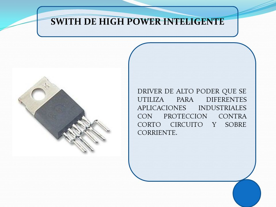 SWITH DE HIGH POWER INTELIGENTE