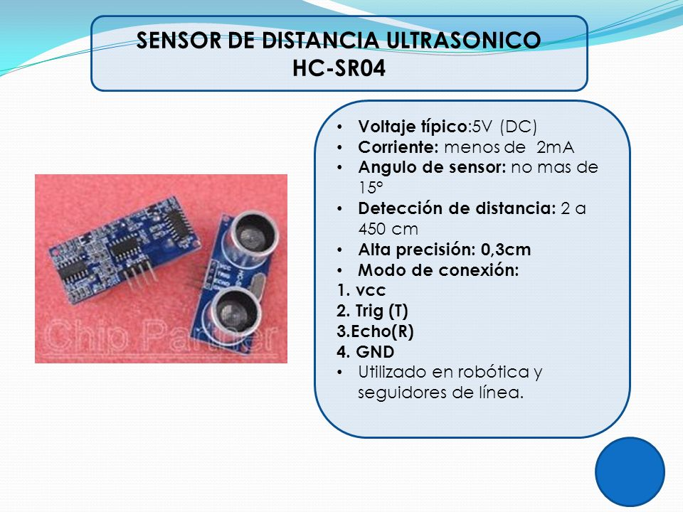 SENSOR DE DISTANCIA ULTRASONICO