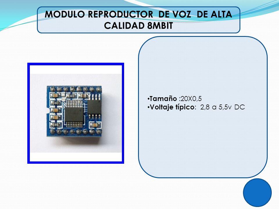 MODULO REPRODUCTOR DE VOZ DE ALTA CALIDAD 8MBIT