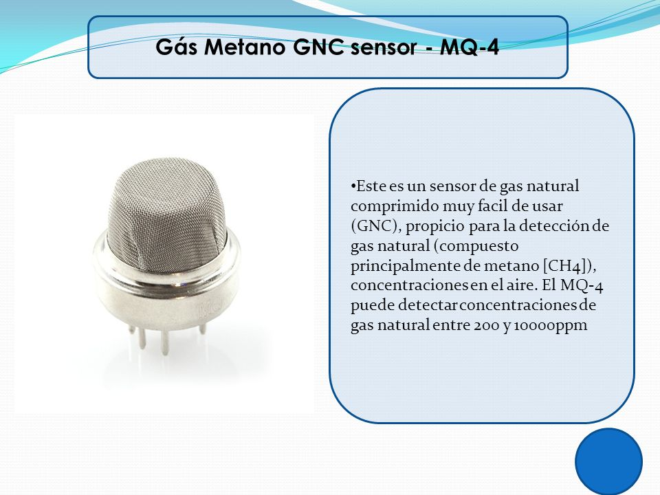 Gás Metano GNC sensor - MQ-4