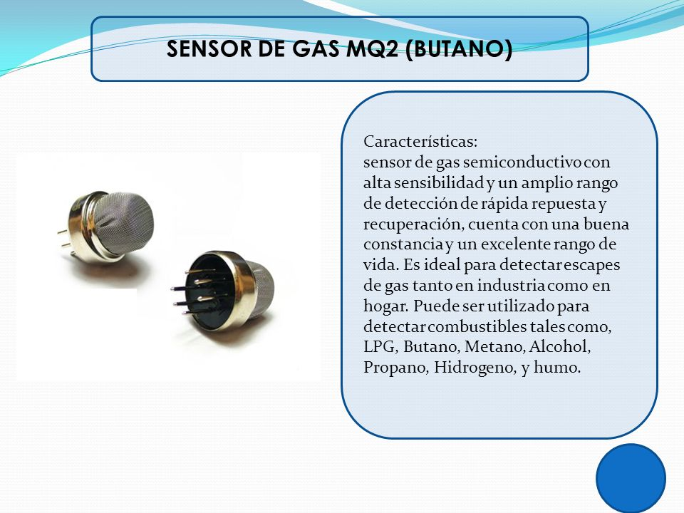 SENSOR DE GAS MQ2 (BUTANO)