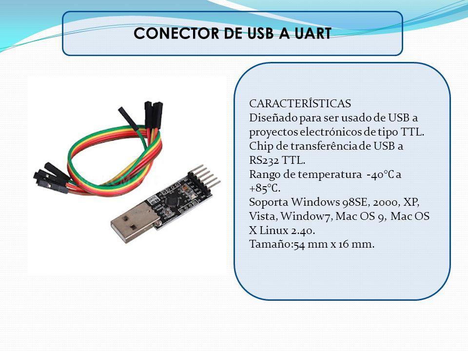 CONECTOR DE USB A UART CARACTERÍSTICAS