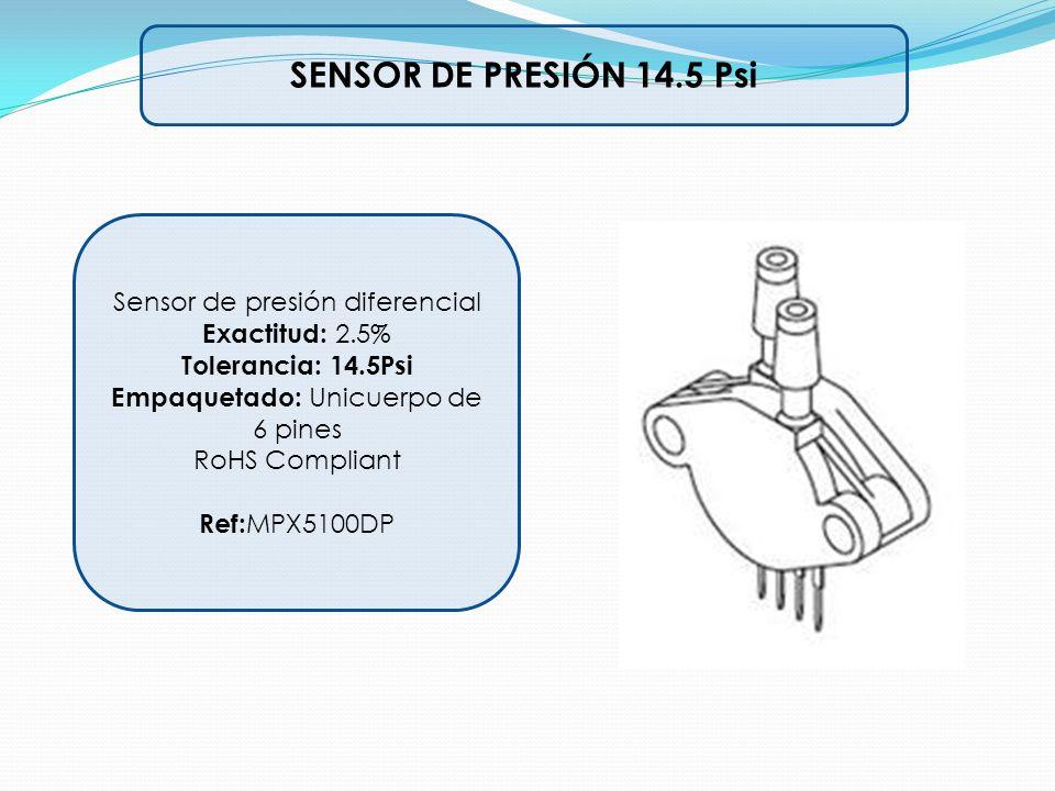 SENSOR DE PRESIÓN 14.5 Psi Sensor de presión diferencial