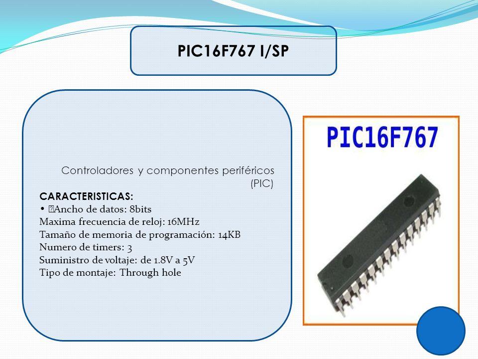 PIC16F767 I/SP Controladores y componentes periféricos (PIC)