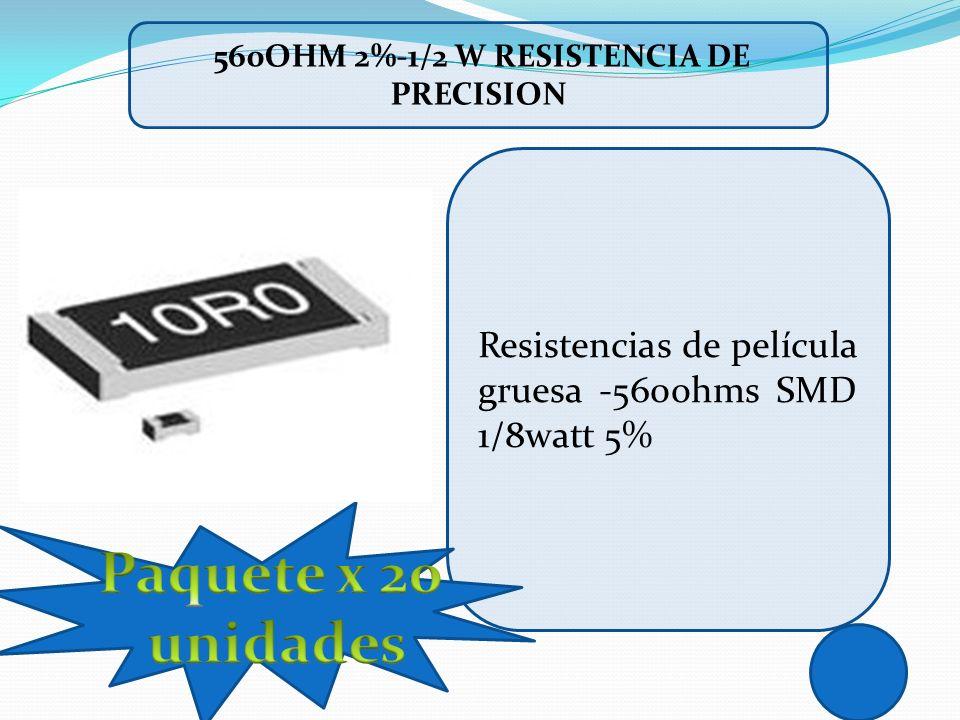 560ohm 2%-1/2 w RESISTENCIA DE PRECISION