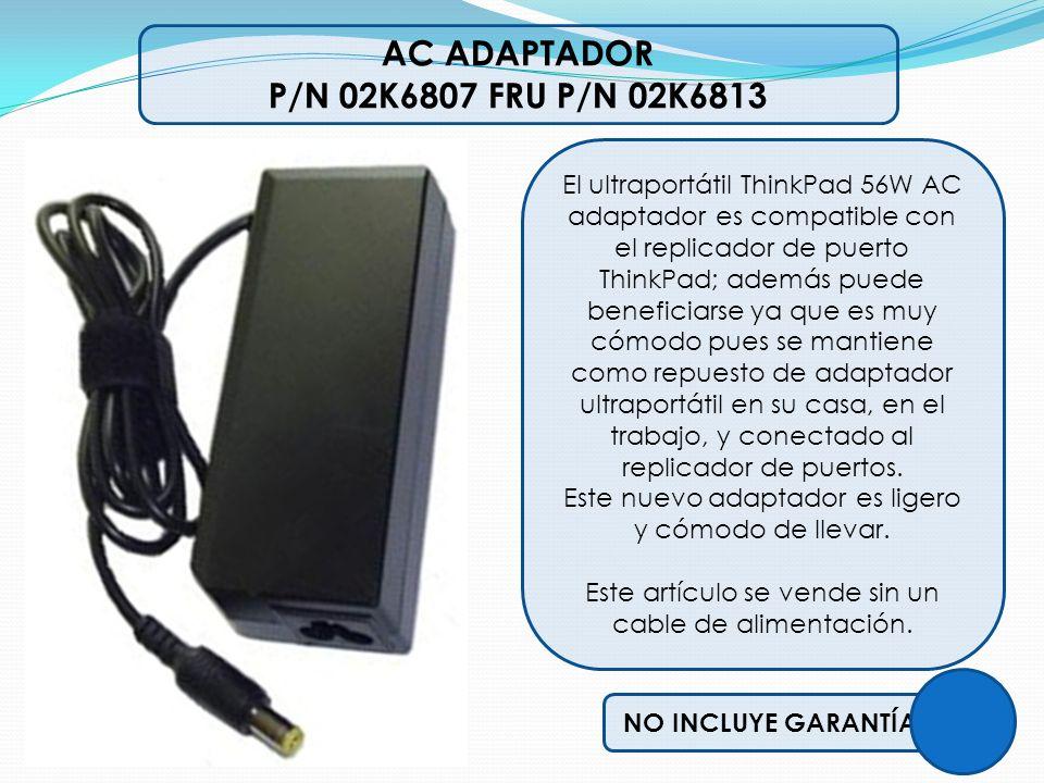 AC ADAPTADOR P/N 02K6807 FRU P/N 02K6813