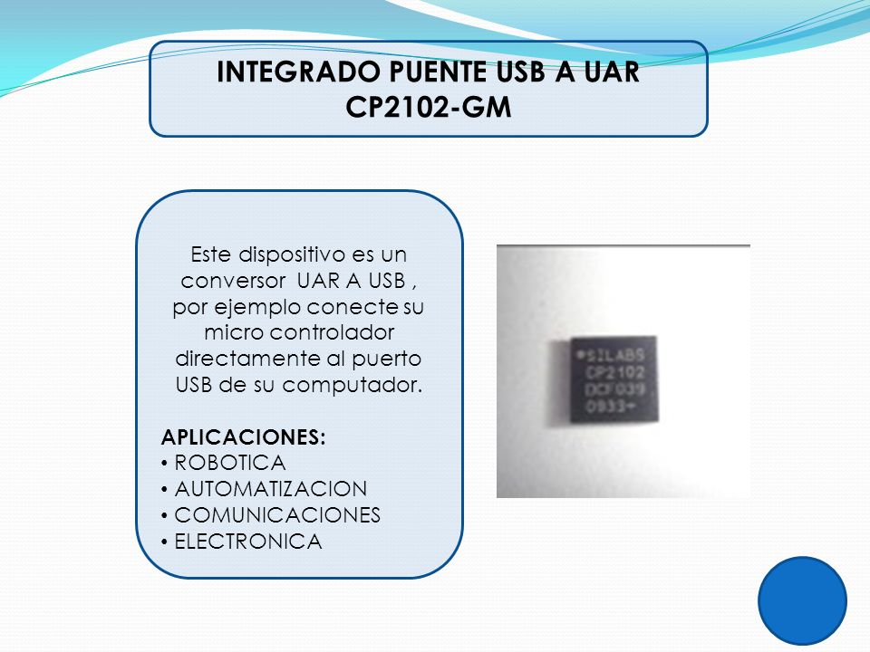 INTEGRADO PUENTE USB A UAR