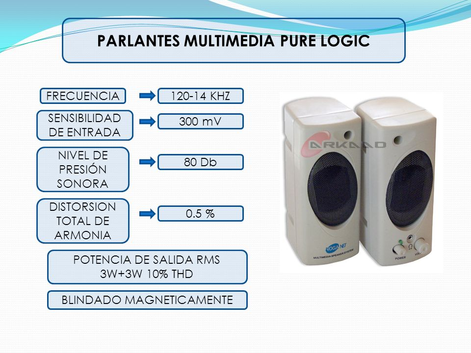 PARLANTES MULTIMEDIA PURE LOGIC