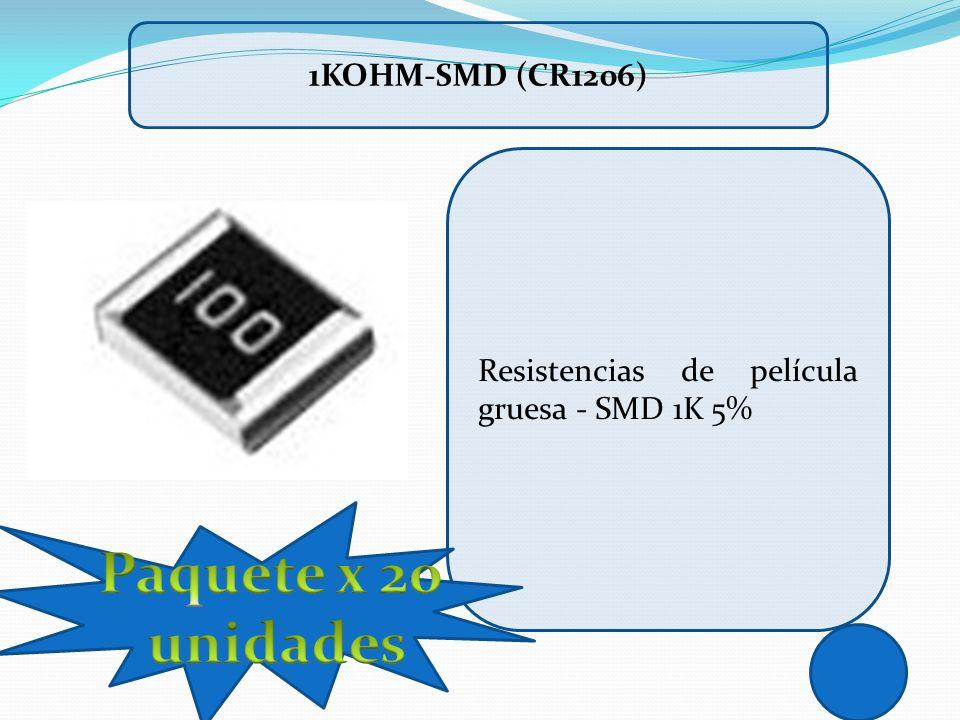 Paquete x 20 unidades 1Kohm-SMD (CR1206)