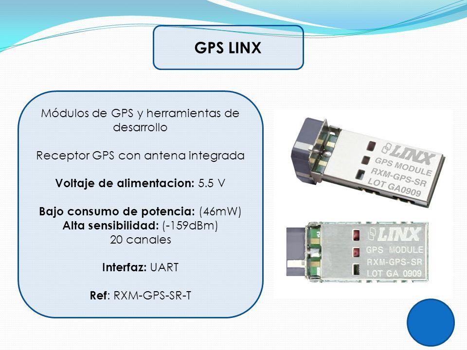 GPS LINX Módulos de GPS y herramientas de desarrollo