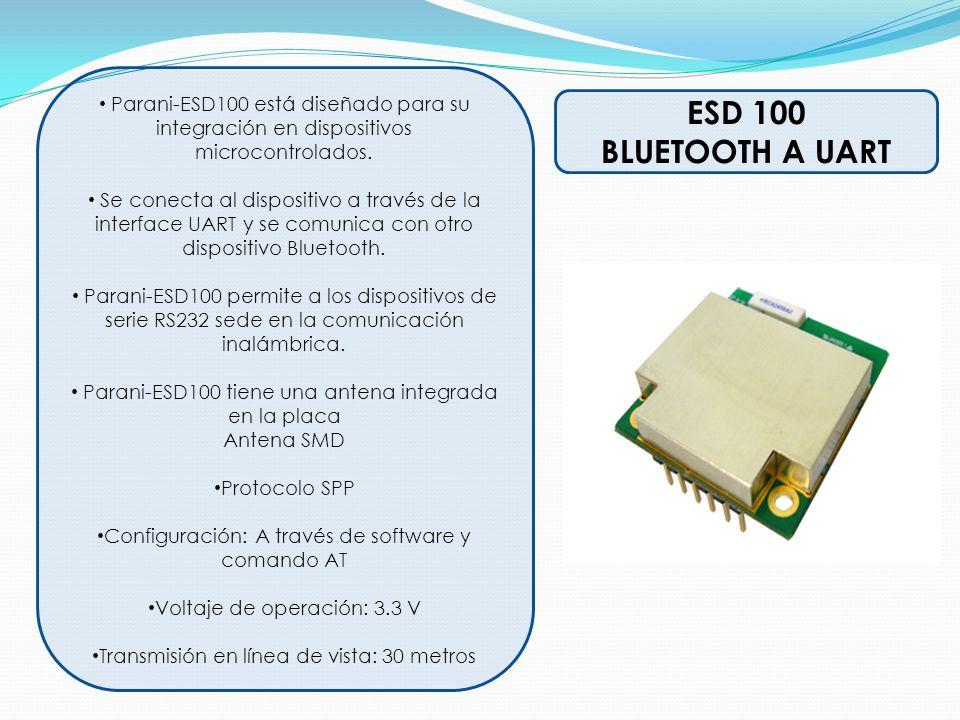 Parani-ESD100 está diseñado para su integración en dispositivos microcontrolados.