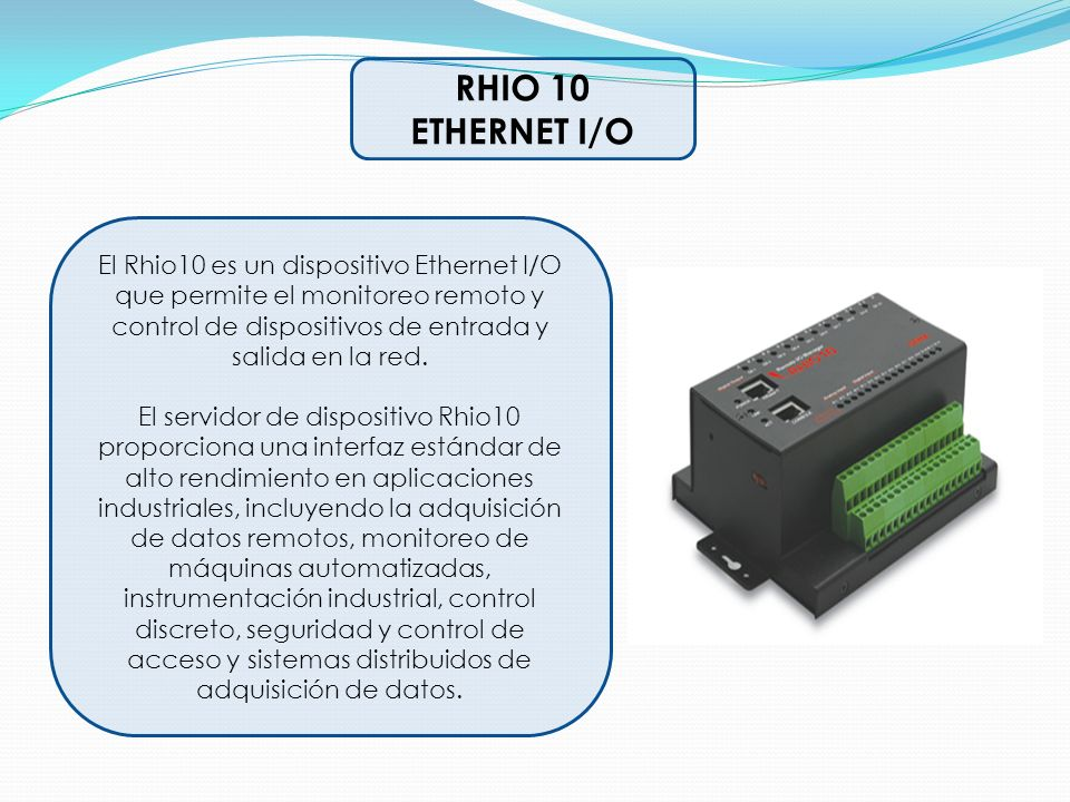 RHIO 10 ETHERNET I/O.