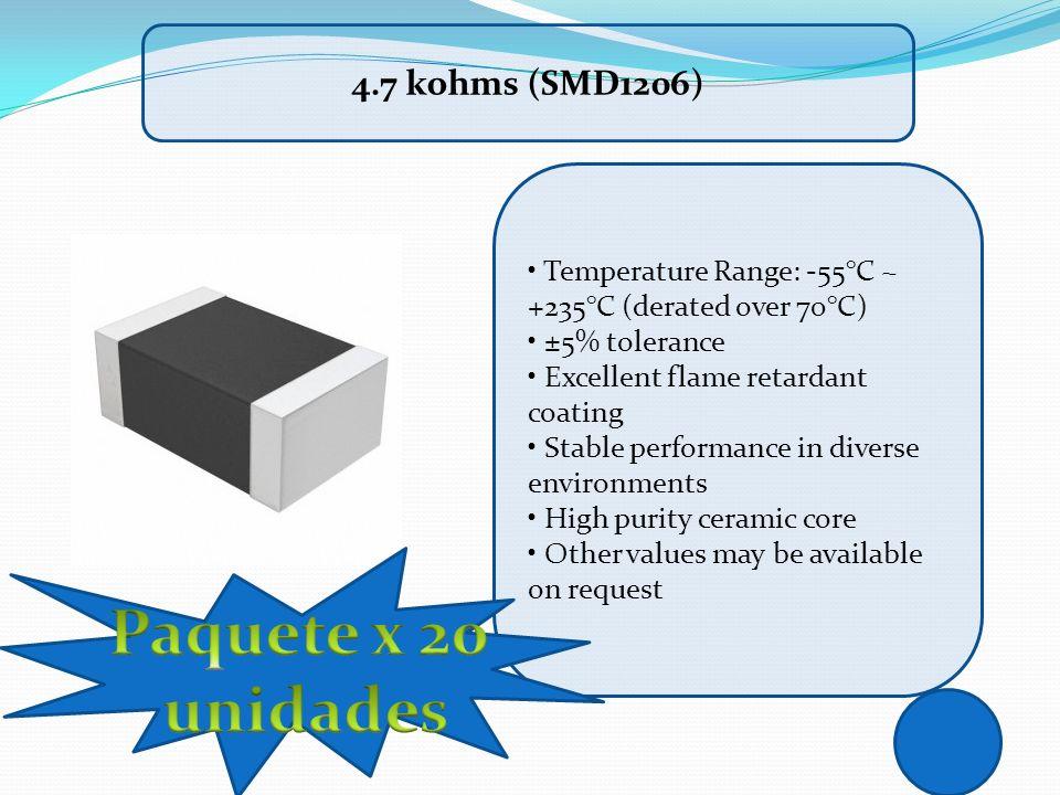 Paquete x 20 unidades 4.7 kohms (SMD1206)