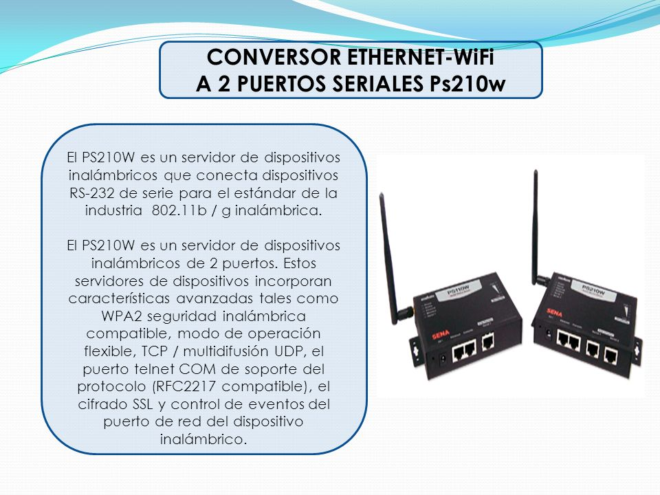 CONVERSOR ETHERNET-WiFi
