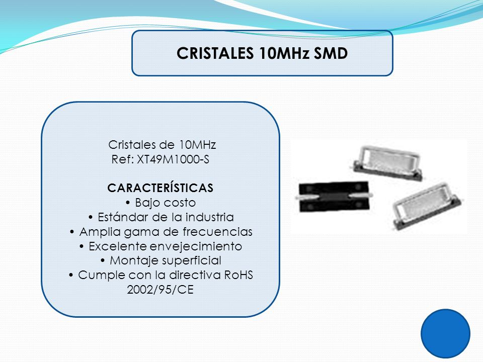 CRISTALES 10MHz SMD