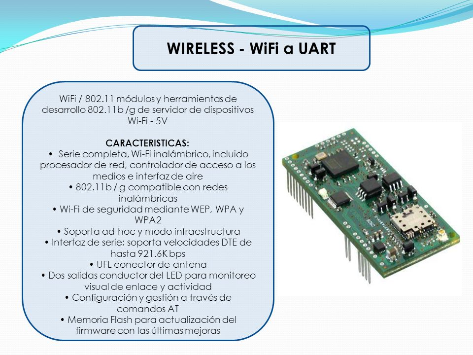 WIRELESS - WiFi a UART