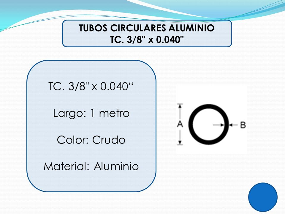 TUBOS CIRCULARES ALUMINIO