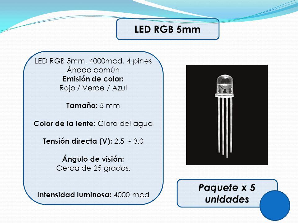 LED RGB 5mm Paquete x 5 unidades