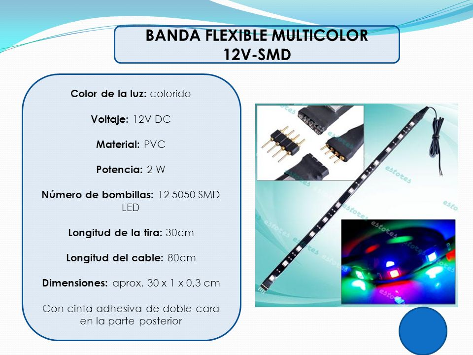 BANDA FLEXIBLE MULTICOLOR