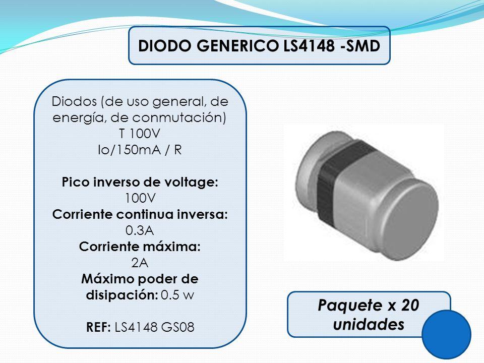 DIODO GENERICO LS4148 -SMD Paquete x 20 unidades