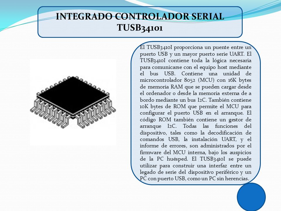 INTEGRADO CONTROLADOR SERIAL TUSB34101