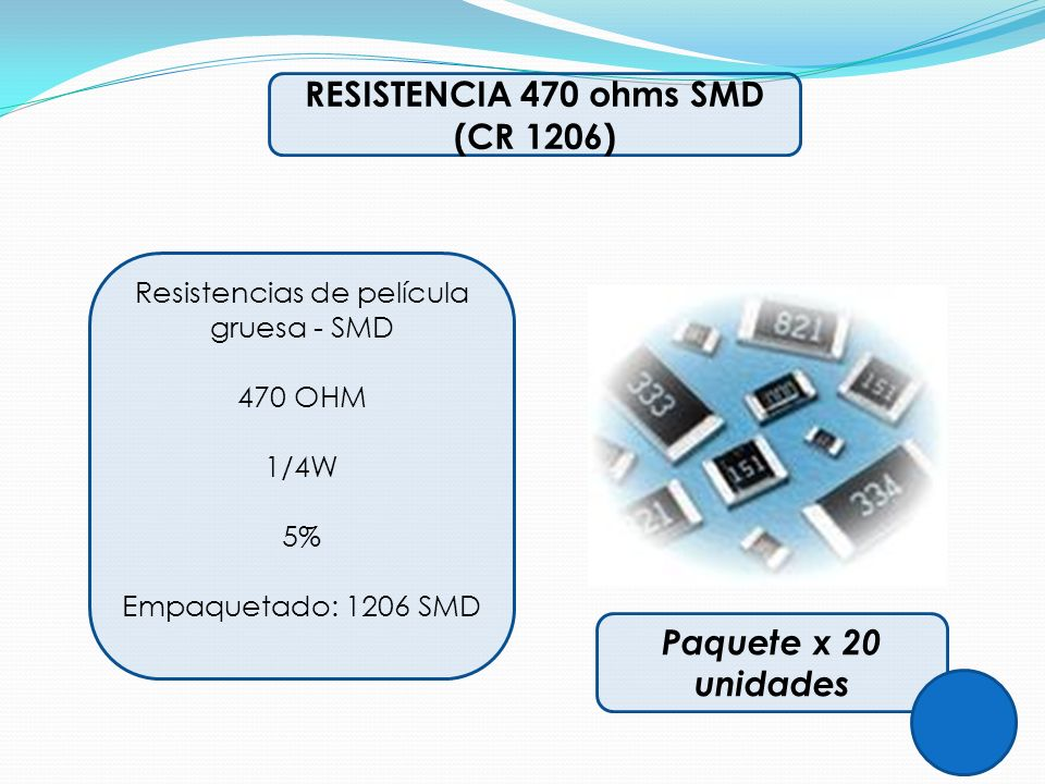 Resistencias de película gruesa - SMD