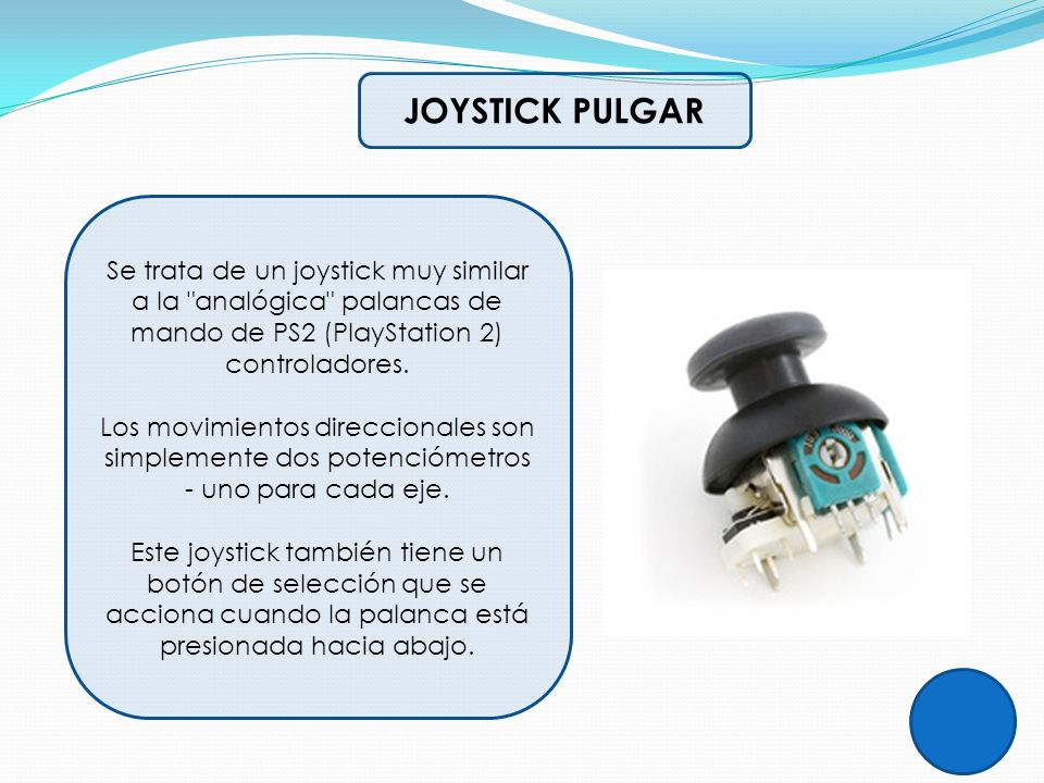 JOYSTICK PULGAR Se trata de un joystick muy similar a la analógica palancas de mando de PS2 (PlayStation 2) controladores.