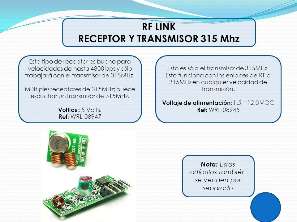 RECEPTOR Y TRANSMISOR 315 Mhz