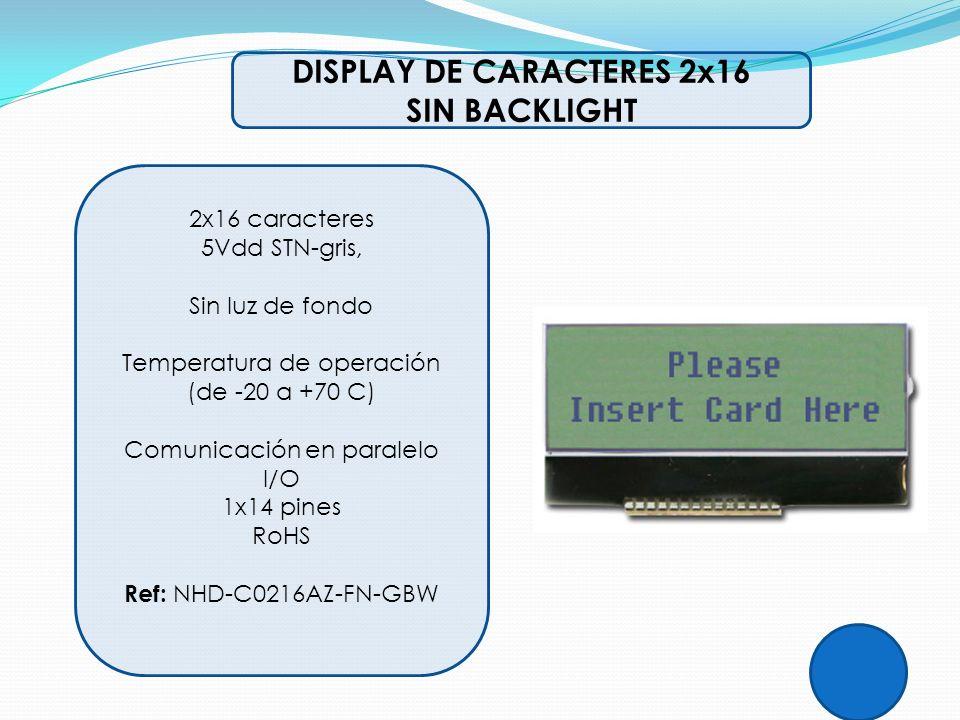 DISPLAY DE CARACTERES 2x16