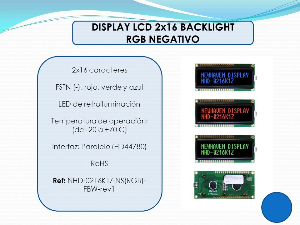 DISPLAY LCD 2x16 BACKLIGHT