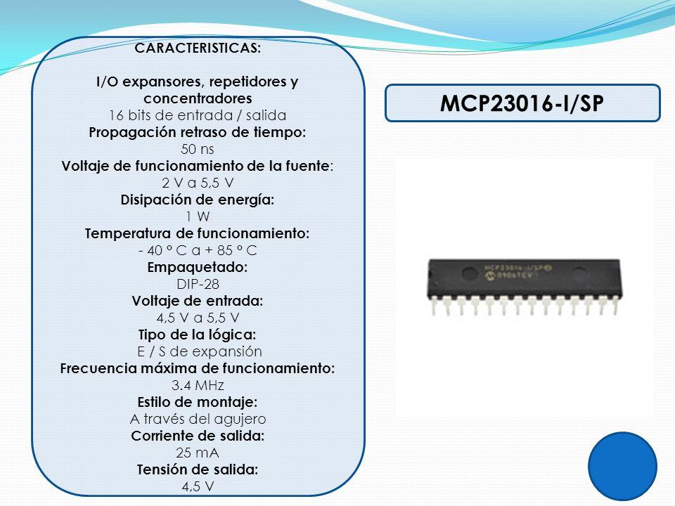 I/O expansores, repetidores y concentradores Disipación de energía: