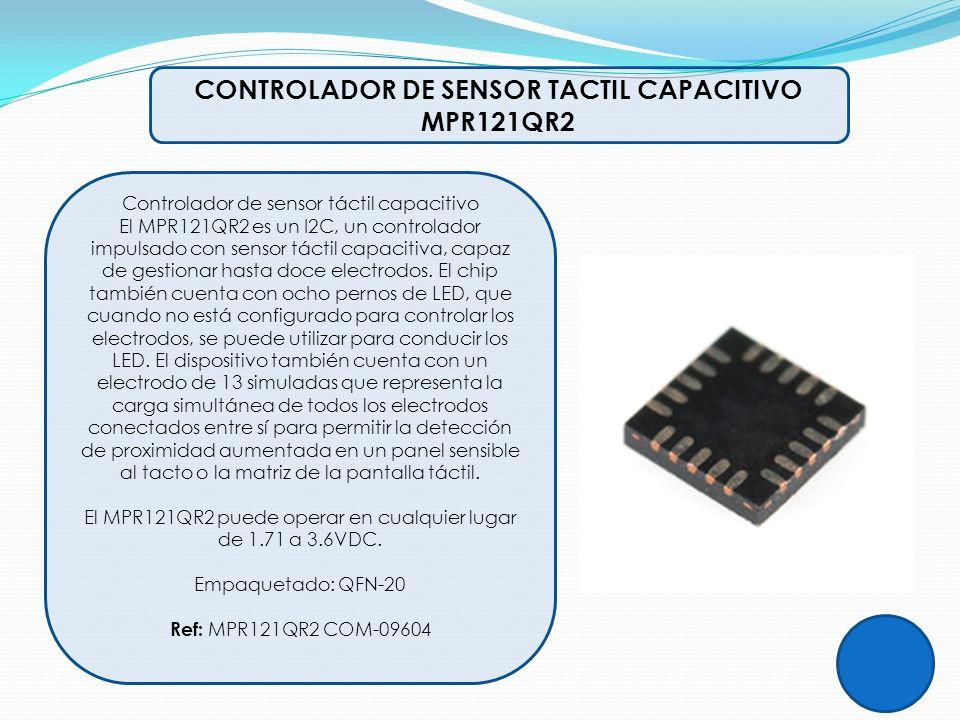 CONTROLADOR DE SENSOR TACTIL CAPACITIVO MPR121QR2