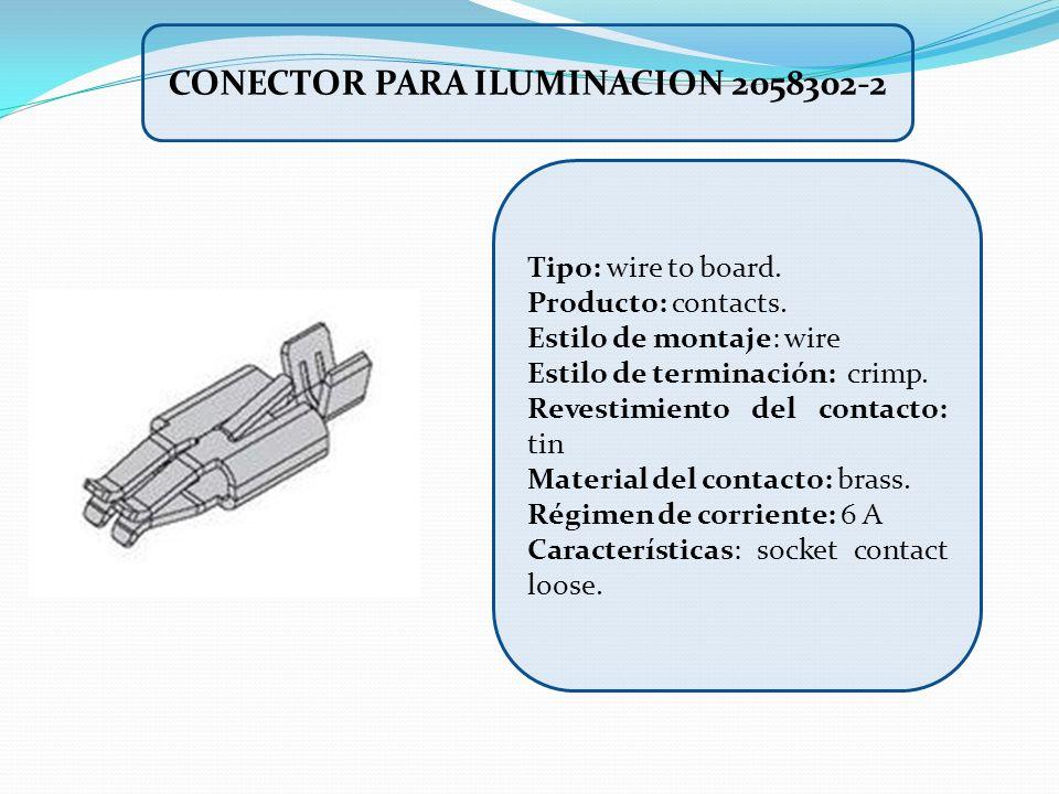 CONECTOR PARA ILUMINACION 2058302-2